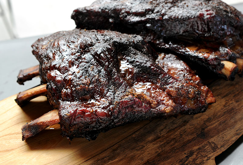 Smoked Beef Ribs with Harissa