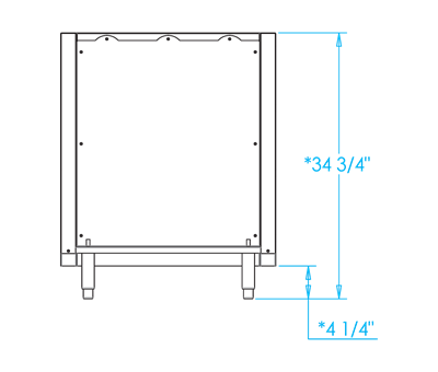 Signature K500HB Grill Back Panel Dimensions Image