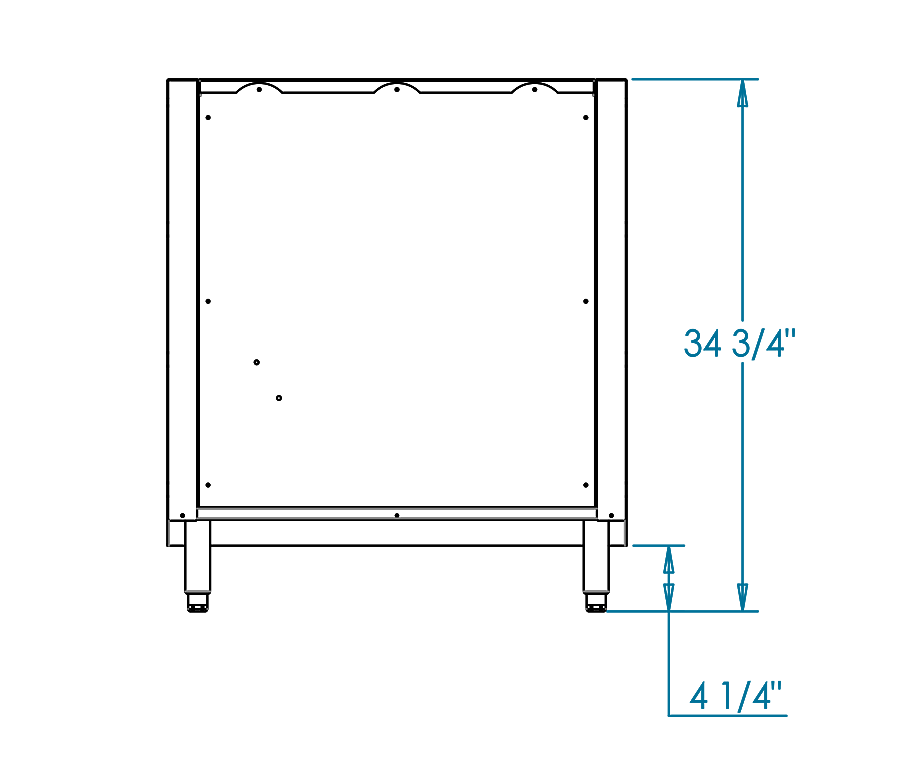 Signature 30-inch Appliance Back Panel Dimensions Image