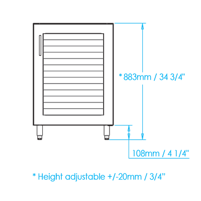 Warming Cabinet Dimensions Image