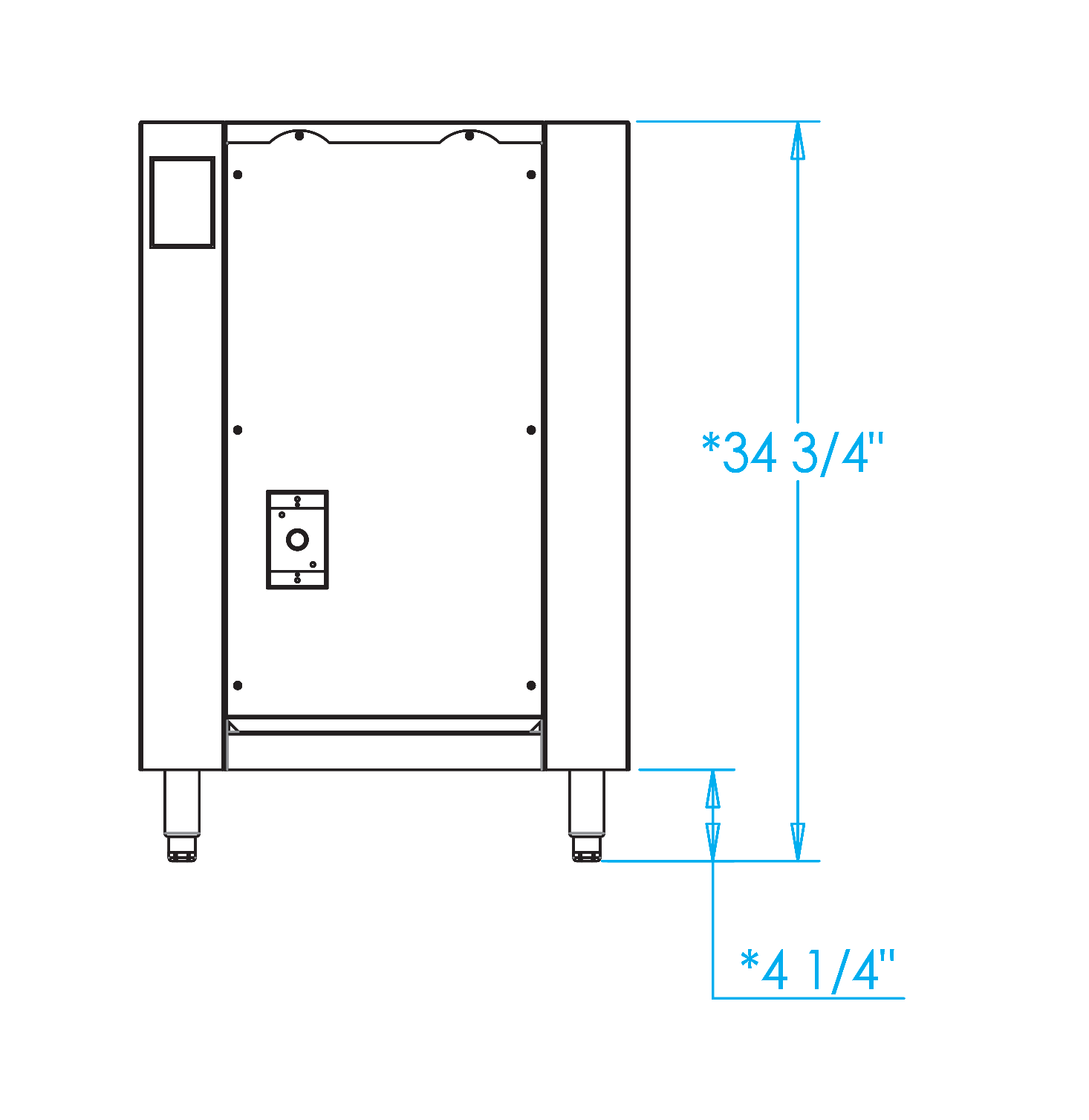 Signature 15-inch Appliance Cabinet Dimensions Image
