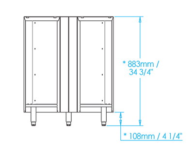 Signature 45-Degree Blind Corner Unit Dimensions Image