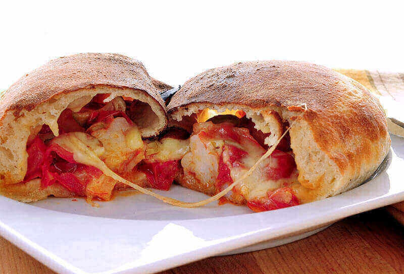 Image of Shrimp Calzone with Olives and Tomatoes