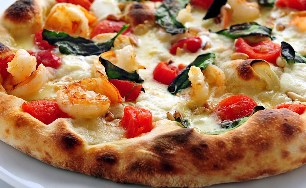Image of Shrimp and Spinach Pizza