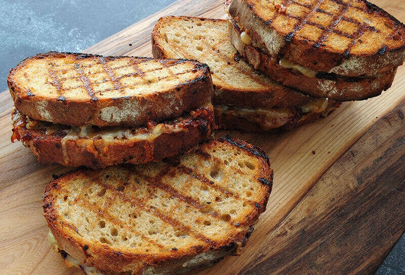 "Image of Spicy Sweet Onion ""Jam"" and Cheddar Grilled Cheese"