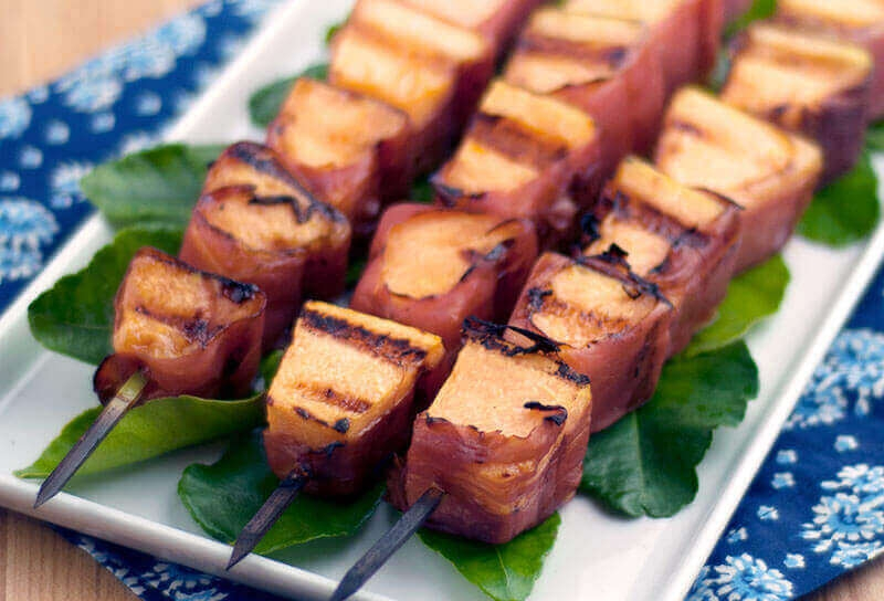 Image of Cantaloupe Prosciutto Kebabs