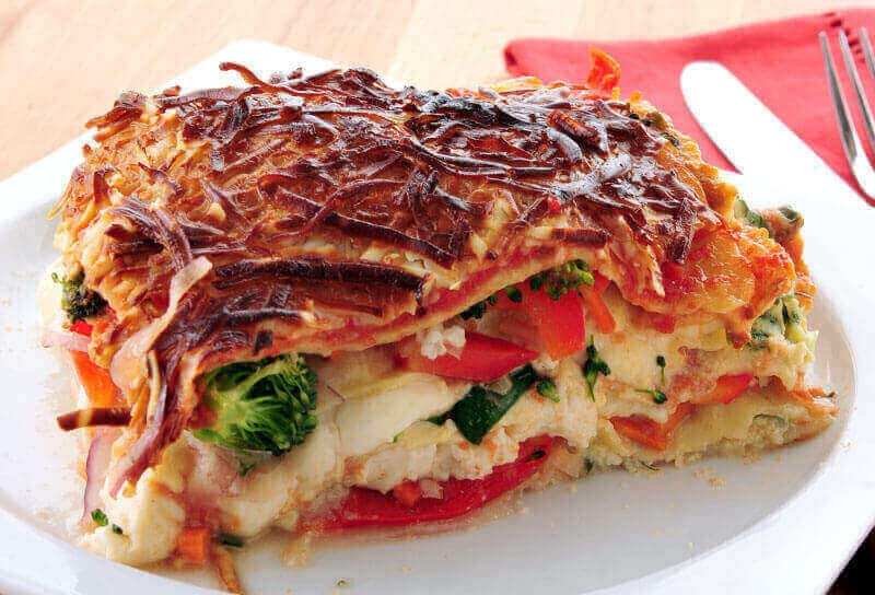 Image of Shrimp and Vegetable Lasagna
