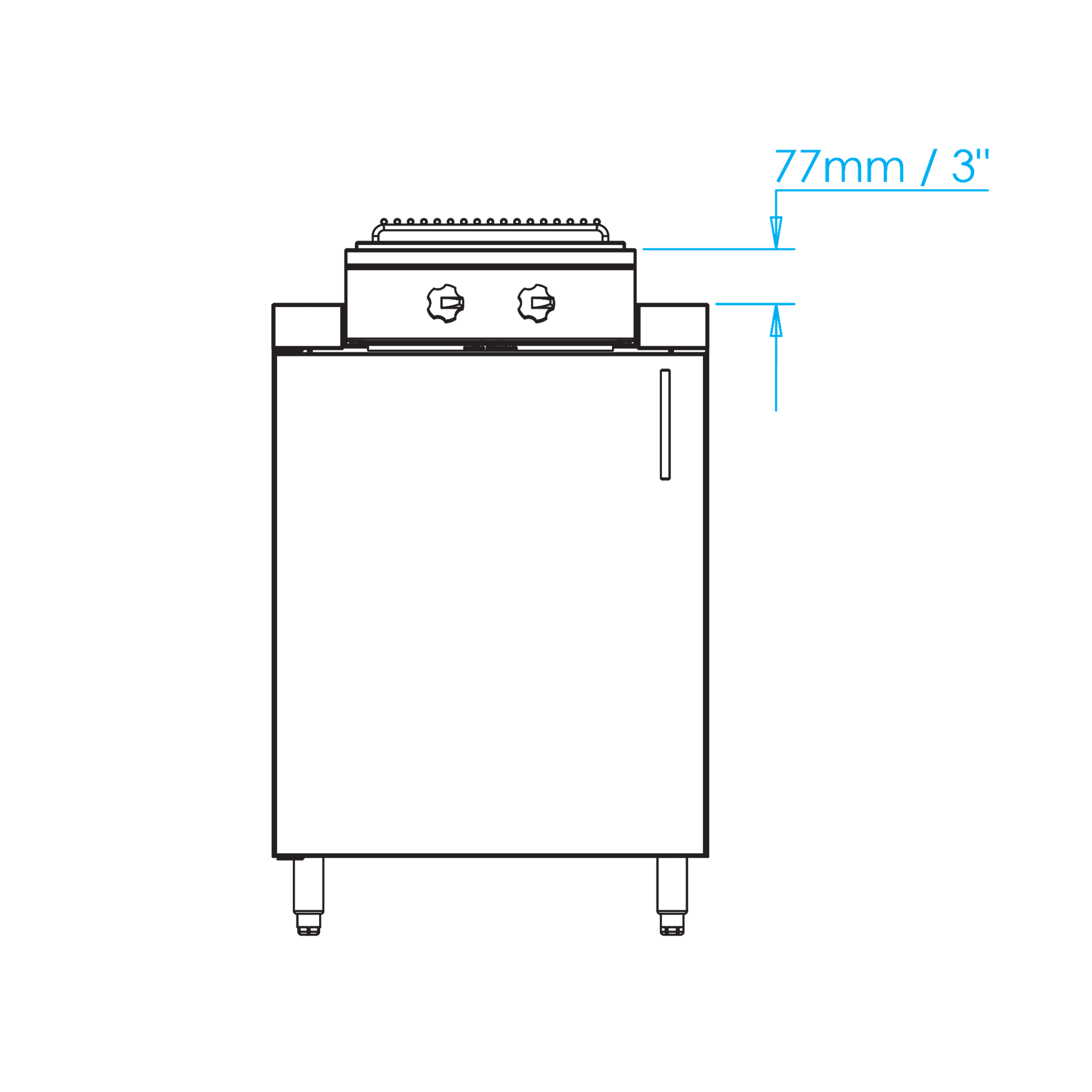Built-In Double Cooktop Dimensions Image
