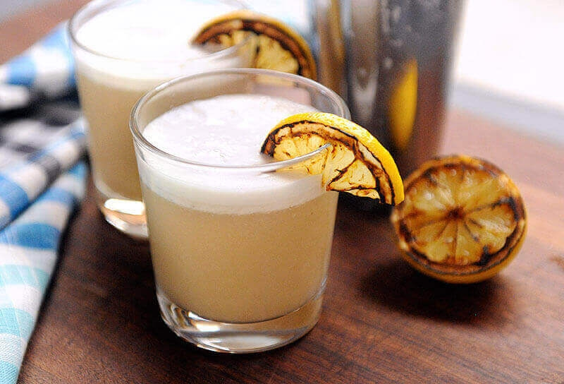 Image of Grilled Lemon Whiskey Sour