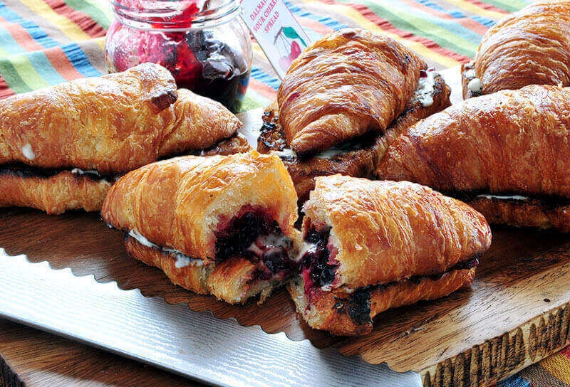 Image of Sour Cherry and Mascarpone Croissants