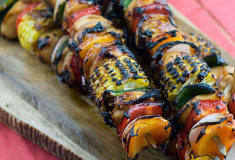 Image of Tequila Barbecue Chicken Kebabs