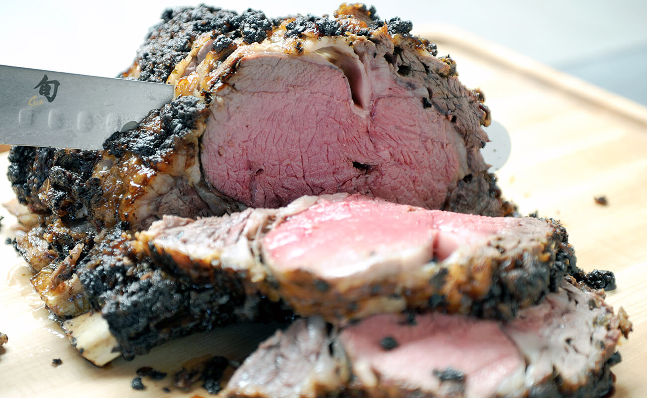 Image of Charcoal Rotisserie Prime Rib with Horseradish Crust