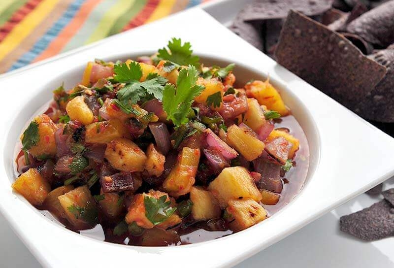 Image of Grilled Pineapple Salsa