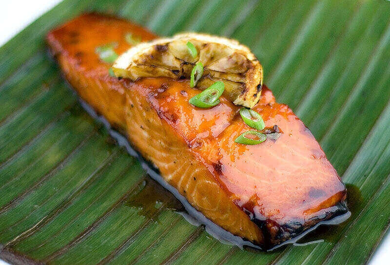 Image of Maple Planked Salmon with Maple Soy Glaze