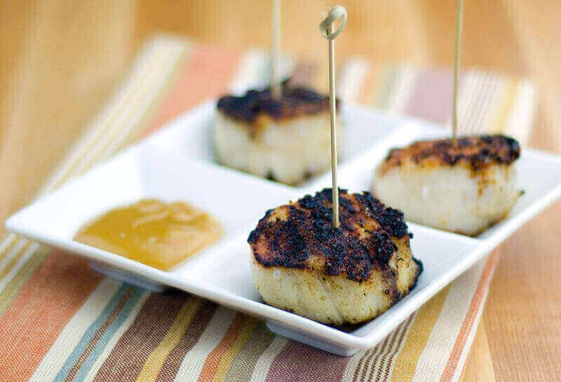 Image of Blackened Scallops with Lemon Mustard Stinger Sauce