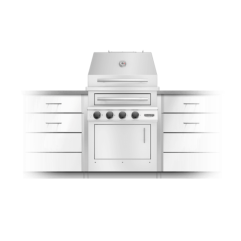 K500 Built-in Hybrid Fire Grill Image