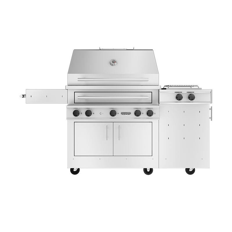 K750 Freestanding Hybrid Fire Grill with Side Burner Image